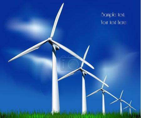 Wind Generators. Vector illustration