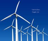 Větrné generátory. vektorové ilustrace