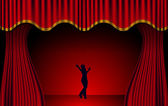 Red Theatre Curtains Vector