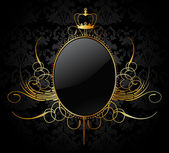 Royal vector background with golden frame