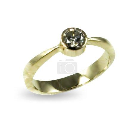 Illustration pour Bagues de mariage en or et diamants Illustration vectorielle - image libre de droit