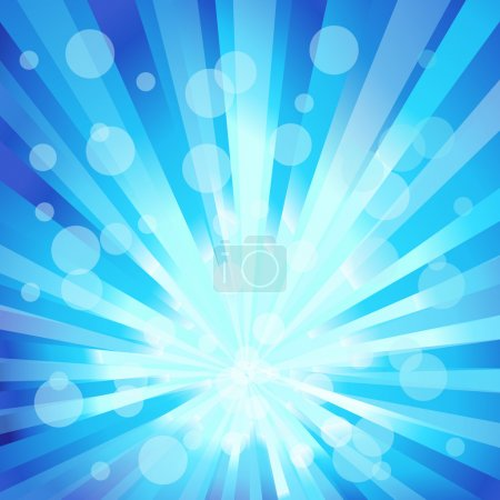 Illustration pour Conception de vecteur des rayons en bleu avec cercle - image libre de droit