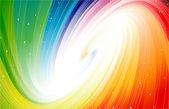 Stars in deep space rainbow colors Vector
