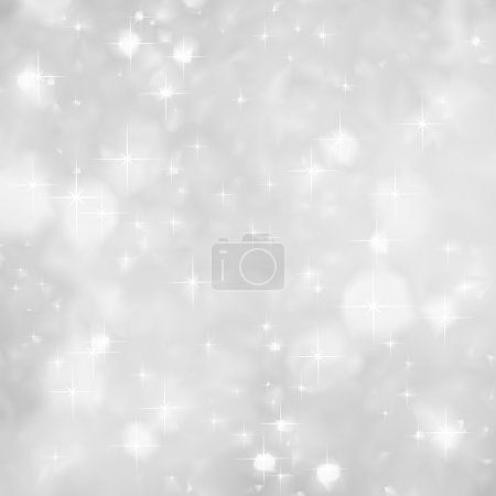 Illustration for Festive silver background with a lot of sparkles - Royalty Free Image