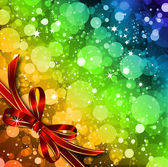 Magic Lights background with bow Vector
