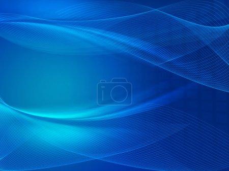 Foto de Fondo azul abstracto con red de luz y líneas - Imagen libre de derechos