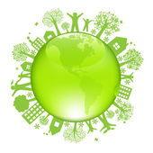 Earth Day Concept Isolated On White Background Vector Illustration
