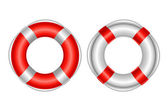 2 Life Buoy Isolated On White Background Vector Illustration