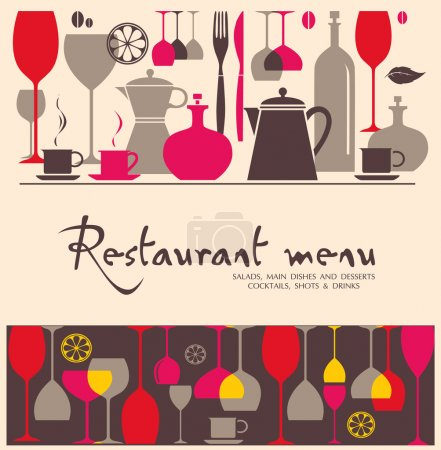 Photo for Vector. Restaurant menu design - Royalty Free Image
