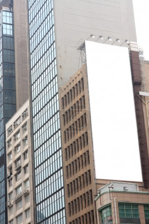 Advertisement blank at a modern building outside