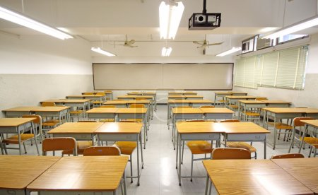 Photo for Empty big classroom at school - Royalty Free Image