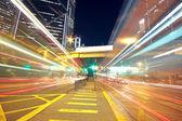 Busy traffic night in finance urban