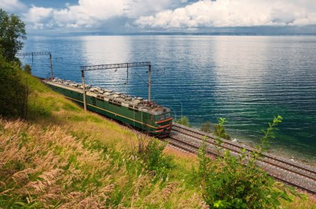 Train on Trans Baikal Railway