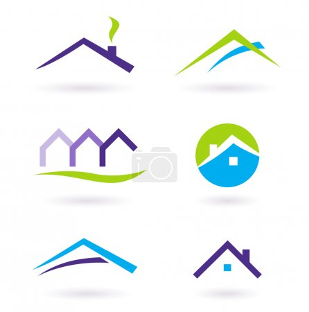 Illustration for Collection of real estate / architecture icons. Vector format. - Royalty Free Image