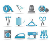 Textile objects and industry icons