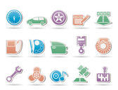 Auto díly, služby a vlastnosti ikony