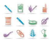 Kouření a cigareta ikony