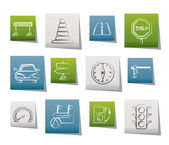 Road navigation and traffic icons