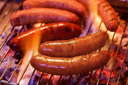 Grilling bratwursts