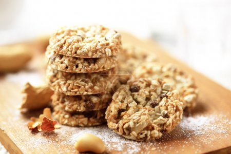 Photo for Healthy nut and seed oatmeal cookies - Royalty Free Image