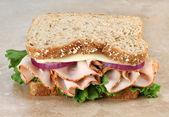 Healthy Turkey and Cheese Sandwich on Whole Grain Bread