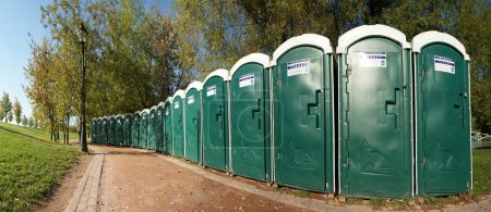 Photo for Public toilets in the park - Royalty Free Image