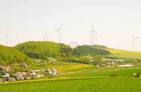 Alternative energy sources - windmills and solar p...