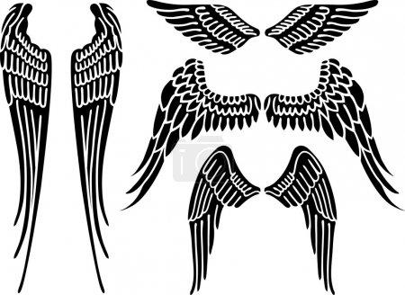 Illustration pour Illustration vectorielle des ailes d'ange isolées sur fond blanc - image libre de droit