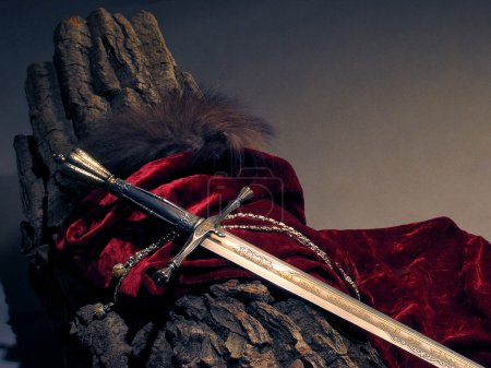 Smart sword of the knight of the Middle Ages...