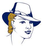 Retro girl portrait in hat