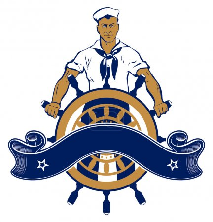Sailor man emblem