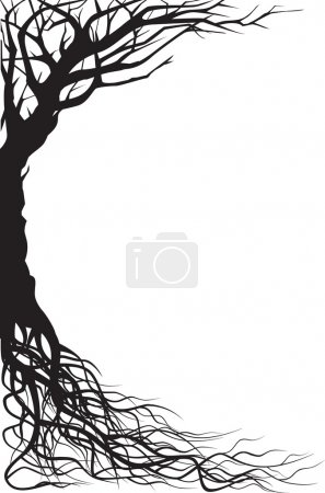 Illustration pour Illustration de silhouette d'arbre - image libre de droit