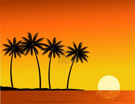 Illustration for Tropical beach background - Royalty Free Image