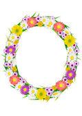 Flower circle frame background