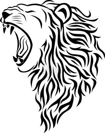 Illustration pour Tatouage de lion - image libre de droit