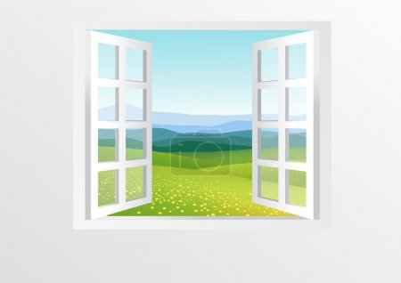 Illustration for Open window - Royalty Free Image