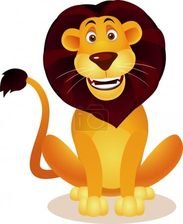 Illustration for Lion cartoon - Royalty Free Image