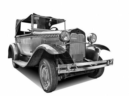 Photo pour Isolé sur blanche classique vieille voiture avec un tracé de détourage - image libre de droit