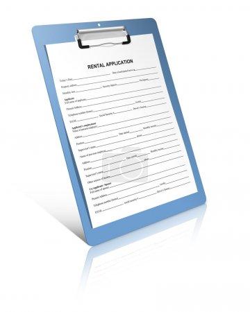 Photo pour Formulaire de demande de location - image libre de droit
