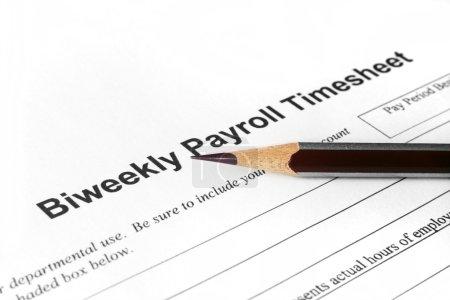 Biweekly payroll timesheet...