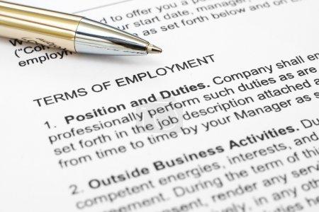 Photo pour Formulaire d'emploi - image libre de droit