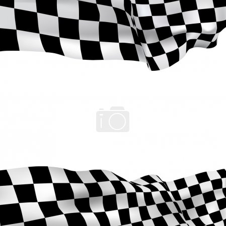 Photo for Vector background checkered flag with space for your text - Royalty Free Image