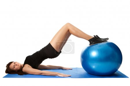 Reverse leg roll excercise