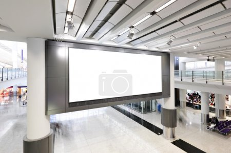 Photo for Blank billboard indoor - Royalty Free Image