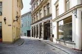 Narrow small streets of old Riga.