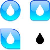 Déšť lesklý tlačítko