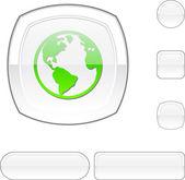 Planeta bílé tlačítko