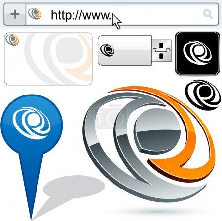 Business 3D eye logo design.