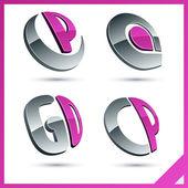 Růžový firemní štíty
