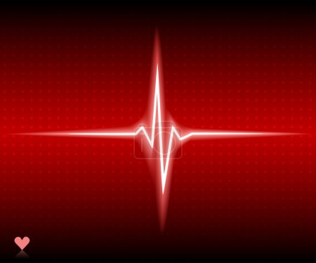 Red heart bear. Vector illustration....